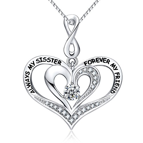 Always my sister forever my friend pendant necklace 18jewelry always my sister forever my friend pendant necklace 18jewelry for women girlssisterauntmom gifts mozeypictures Gallery